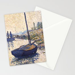 """Paul Signac """"Le ponton de la Félicité. Asnières (Opus no. 143)"""" Stationery Cards"""