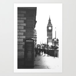 Big Ben and Phone booth Art Print