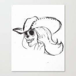 Day of the Dead Cowgirl Canvas Print