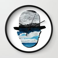 magritte Wall Clocks featuring Ceci n'est pas une Magritte by Condor