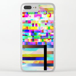 Texture glitched out Clear iPhone Case