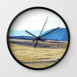 Winter Run Wall Clock