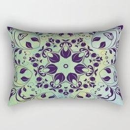 FLOURISH PURPLE AND BLUE WATERCOLOR MANDALA  Rectangular Pillow