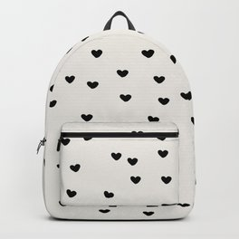 Lots of Little Hearts Brush Strokes Pattern Backpack