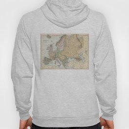 Vintage Map of Europe (1892) Hoody
