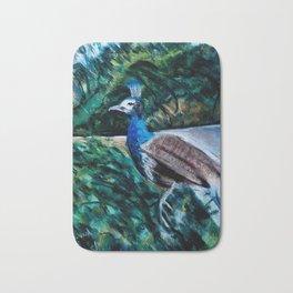 Hounds chasing peacock Bath Mat