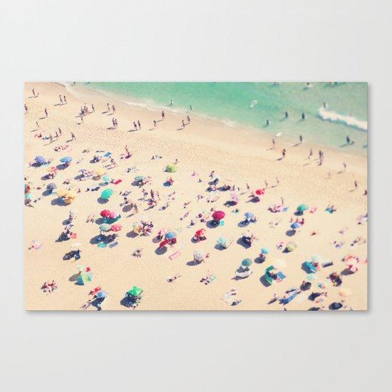 beach summer in love Canvas Print