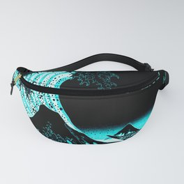 The Great Wave : Dark Teal Fanny Pack