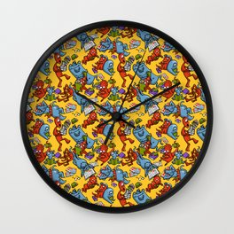 Monsters reading Wall Clock