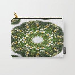 Little White Wildflower Kaleidoscope Art 1 Carry-All Pouch