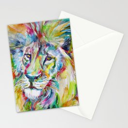 LION FACE Stationery Cards