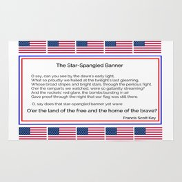 The star spangled banner -america,usa,american flag,patriot, national anthem,stars and strips Rug