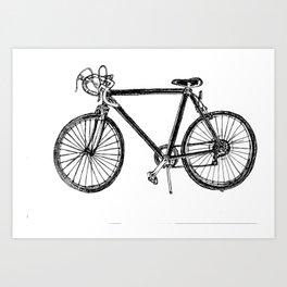 simple vintage bike Art Print
