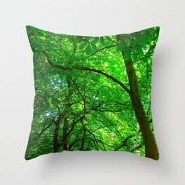 Maple Canopy, Dreamy and Magical Light Throw Pillow