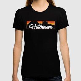 Vintage Hutchinson Kansas Sunset Skyline T-Shirt T-shirt