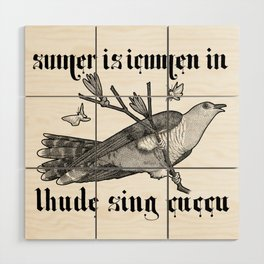 Lhude Sing Cuccu Wood Wall Art
