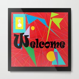American Sign Language ASL WELCOME Metal Print