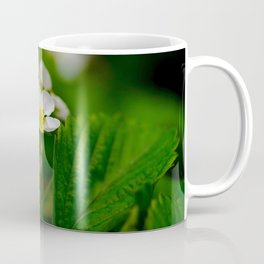 Strawberry Green Leaves Coffee Mug