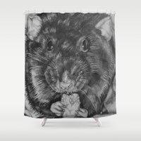 rat Shower Curtains featuring Rat by Natasha Maiklem
