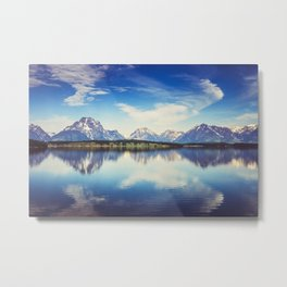 Grand Teton Reflection Metal Print