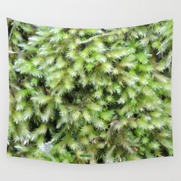 TEXTURES -- Moss on a Tree Trunk Wall Tapestry