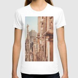 Milan photography, Duomo di Milano, Milan Cathedral, Torre Velasca, architecture photo, skyscraper T-shirt