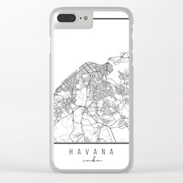 Havana Cuba Street Map Clear iPhone Case