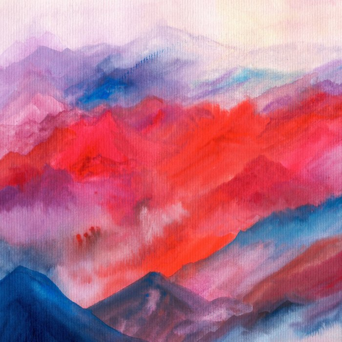 Watercolor abstract landscape 23 Comforters