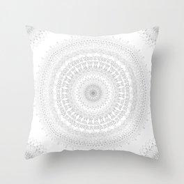 Mandala BW Throw Pillow