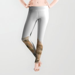 Majestic Highland cow portrait Leggings