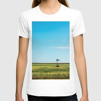 kansas T-shirts featuring Kansas Skyline by Marie Apel