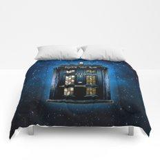 Tardis doctor who Mashup with sherlock holmes 221b door Comforters