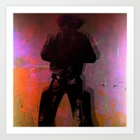 cowboy Art Prints featuring Cowboy by Ganech joe