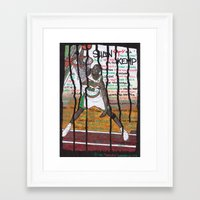 nba Framed Art Prints featuring NBA PLAYERS - Shawn Kemp by Ibbanez
