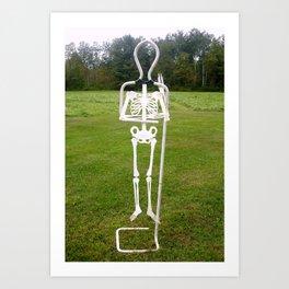 Bones E Art Print