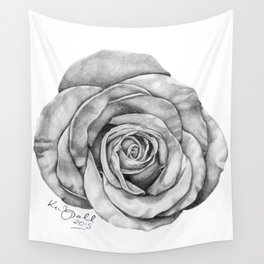 Rose Drawing Wall Tapestry