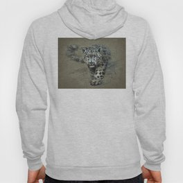Snow leopard background Hoody