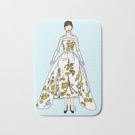 Audrey Hepburn Vintage Retro Fashion 2 Bath Mat