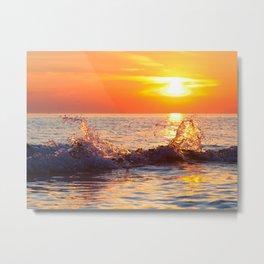 Sun Splash Metal Print