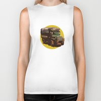truck Biker Tanks featuring Truck by Mirko Dessureault
