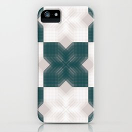 Green and White Opaque Intersections  iPhone Case
