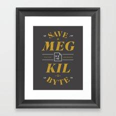 File Size Awareness Framed Art Print