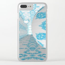 3D Blue 1 Clear iPhone Case