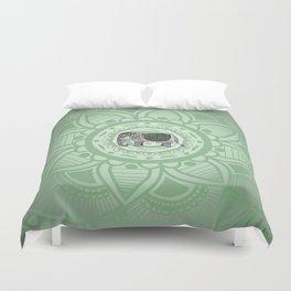 Green Elephant Duvet Cover