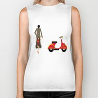 vespa Biker Tanks featuring VESPA by Joe Pansa