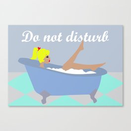 Do not disturb (Blonde) Canvas Print