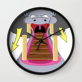 The Hippo's Not So Tempting Offer Wall Clock