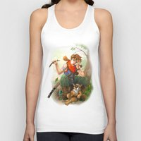 camp Tank Tops featuring camp by Fargon