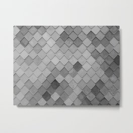 Fifty Gray Shades of Tiles (Black and White) Metal Print