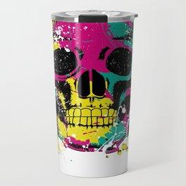 splatter ink skull Travel Mug